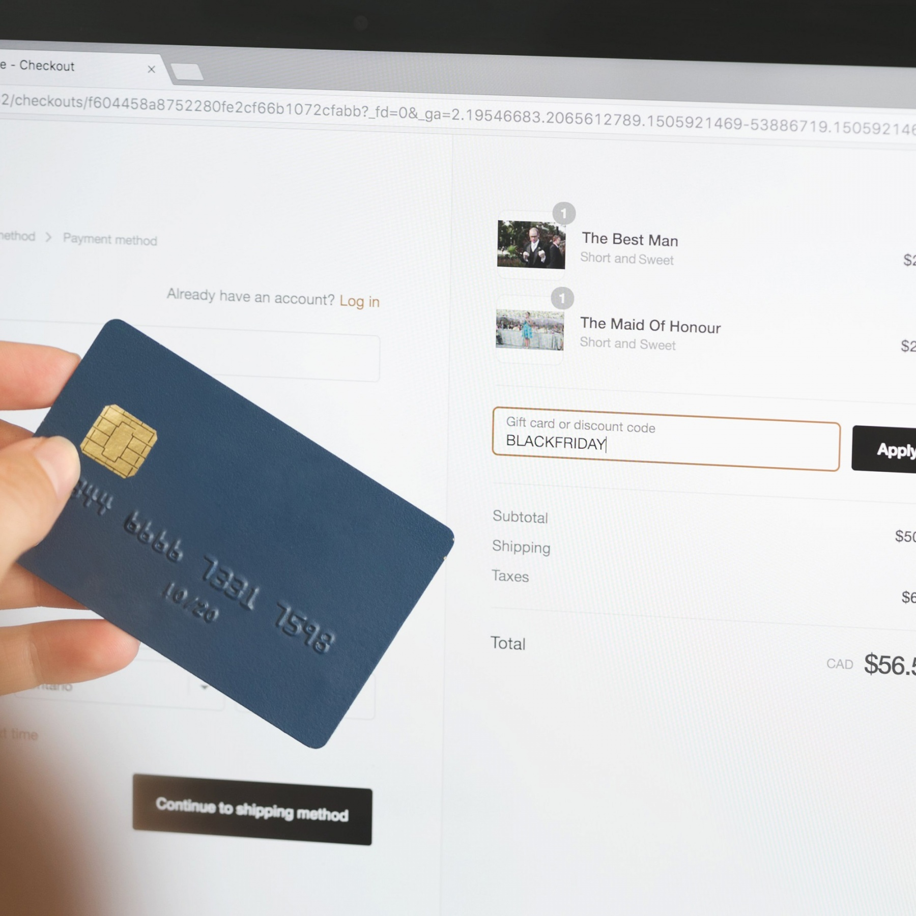 Buying online black friday 1